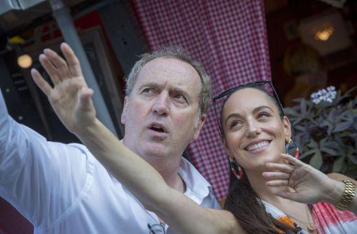 Live vor dem Treff: Tom Hörner und Jenny Marsala Foto: Lichtgut/Leif Piechowski