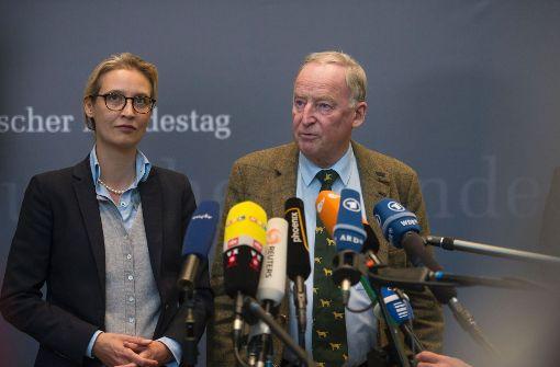 Weidel und Gauland zu Vorsitzenden gewählt