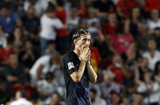 Die Vizeweltmeister aus Kroatien gingen mit einem 0:6 gegen Spanien unter. Foto: AP