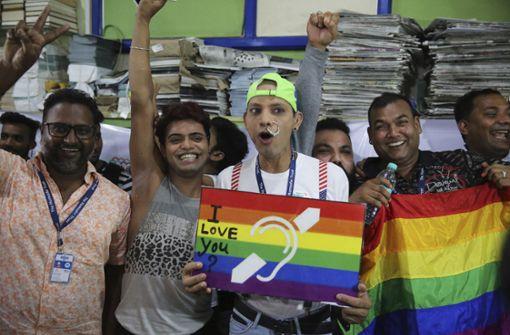 Sex unter Homosexuellen in Indien nicht mehr strafbar