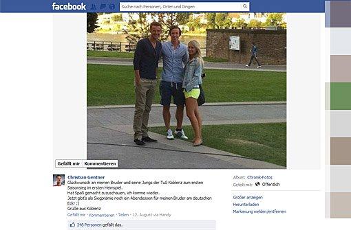 Hier gehts zur Facebook-Seite von a href=https://www.facebook.com/photo.php?fbid=270482409719951&set=a.262102830557909.43254.241008279334031&type=1&theater target=_blankChristian Gentner/a Foto: SIR/Screenshot