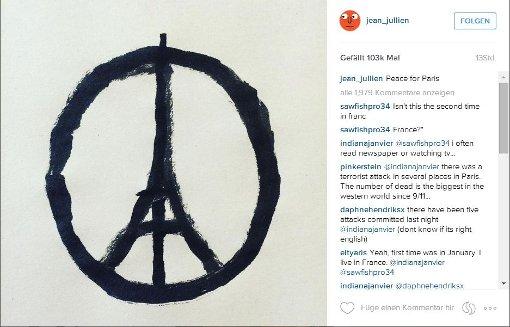 Twitter-Nutzer solidarisieren sich mit Paris