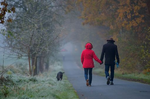 Nebel und Schauer ziehen über den Kessel