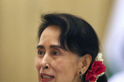 Aung San Suu Kyi geht in der Rohingya-Frage auf Tauchstation. Foto: AP