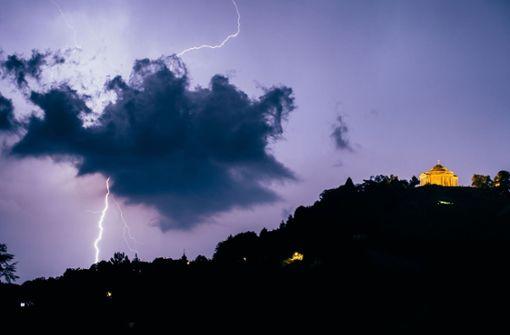 Gewitter ziehen im Südwesten auf