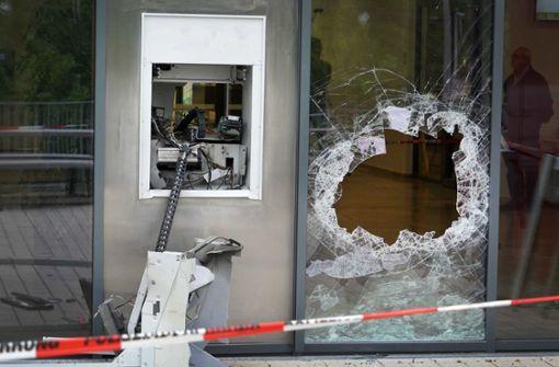 Geldautomaten gesprengt
