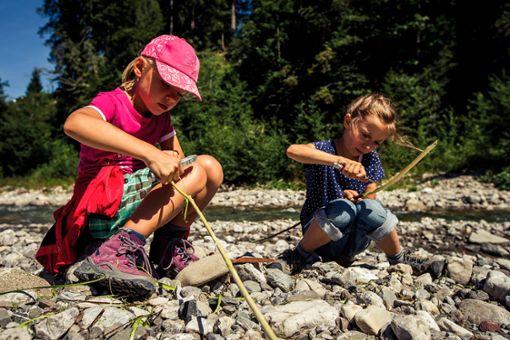 Erstaunliches lernen bei der Kreativen Naturwerkstatt  Foto: Kleinwalsertal Tourismus eGen