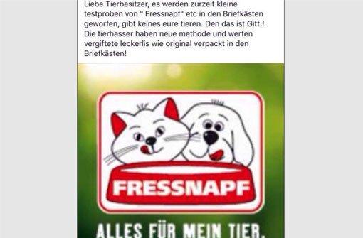 Dieser Facebook-Post - Urheber unbekannt - sorgt derzeit für Furore. Foto: Screenshot Stefi Schönfeld