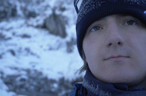 """Robert P. Schröder bei der mentalen Vorbereitung auf die """"Mars One""""- Mission bei einem Winterspaziergang. Foto: Robert P. Schröder"""
