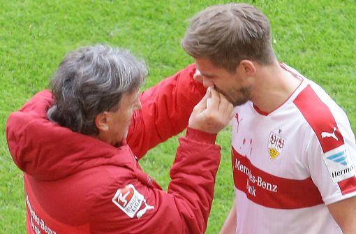 Nase von VfB-Stürmer Terodde gebrochen