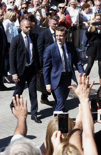 ...hat das Lager des französischen Präsidenten Emmanuel Macron...  Foto: AP