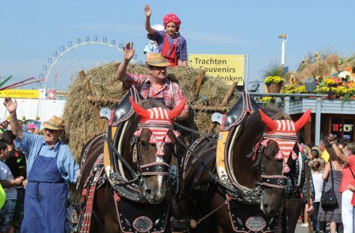 Das historische Volksfest steigt auf dem Schlossplatz