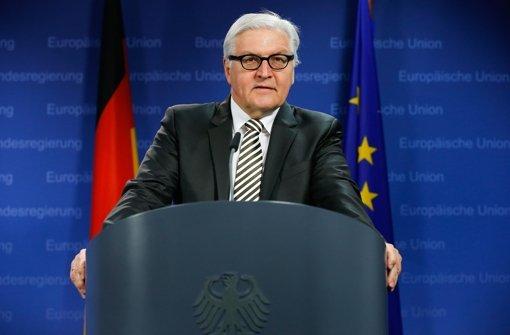 Frank-Walter Steinmeier warnt vor Grexit. Foto: EPA
