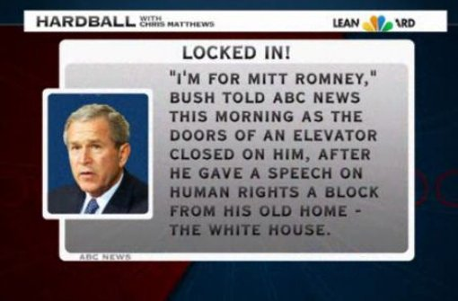 George W. Bush unterstützt Mitt