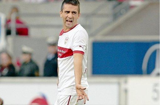 Gegen Hoffenheim muss der VfB seine Negativserie beenden. Im Bild: Vedad Ibisevic, Ex-Hoffenheimer beim VfB Stuttgart. Foto: Pressefoto Baumann