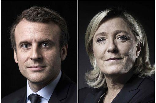 Macron und Le Pen bei Frankreich-Wahl vorne