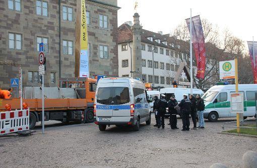 Aufgrund des Anschlags am Montagabend auf einen Berliner Weihnachtsmarkt, sind auch in Stuttgart die Sicherheitsmaßnahmen verschärft worden. Foto: SDMG