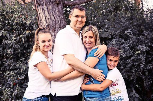 Anton Sakic mit seiner Familie Foto: privat