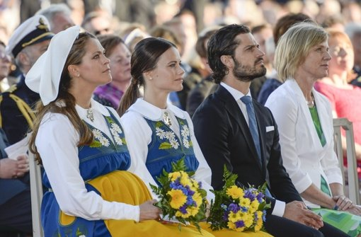 In Schweden-Tracht am Nationalfeiertag