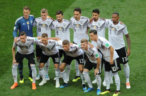 Das DFB-Team bestritt seine Auftaktpartie bei der WM 2018 gegen Mexiko. Foto: dpa