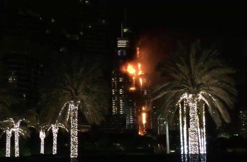 In Dubai ist am Silvesterabend ein Großbrand ausgebrochen. Foto: AP