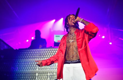 Der US-Rapper Wiz Khalifa trat nach der Show auf. Foto: Getty Images Europe