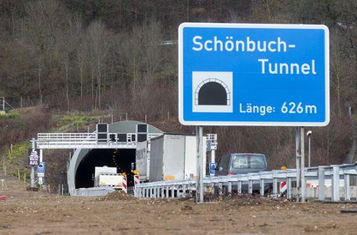 Schönbuchtunnel zeitweise gesperrt