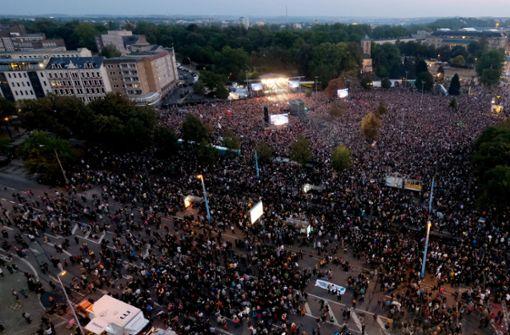Fast eine Million Aufrufe für Livestream von Konzert in Chemnitz
