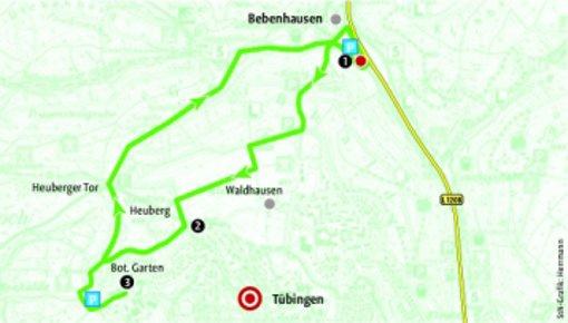 Vom Kloster Bebenhausen nach Tübingen. Quelle: Unbekannt