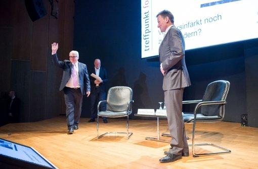 Prominenter Gast auf dem StN-Forum: Frank-Walter Steinmeier Foto: Martin Stollberg