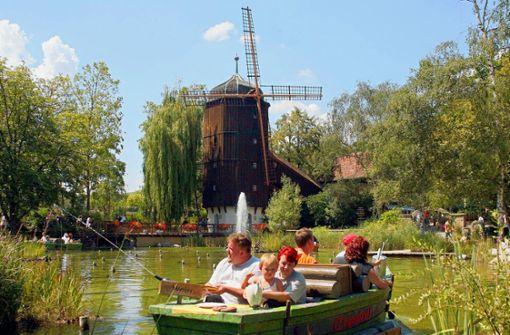 Mit der Altweibermühle fing in Tripsdrill alles an – der Freizeitpark ist der älteste Deutschlands. Foto: dpa