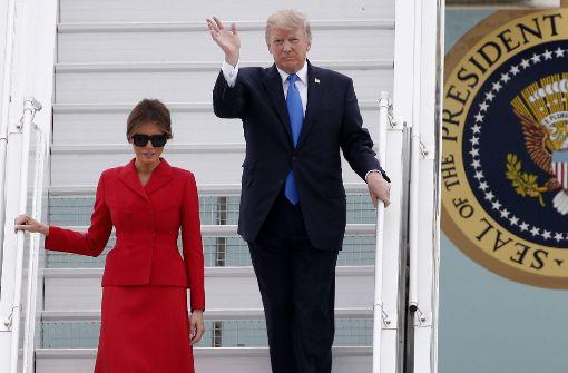 Donald und Melania Trump zu Besuch in Paris