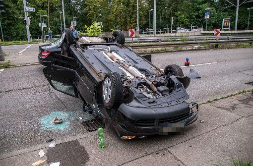 Die Fahrerin wurde nur leicht verletzt. Foto: SDMG