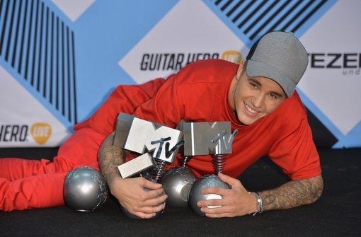 Bieber in Rot ganz vorne dabei