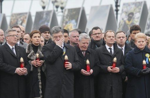 Gauck beim Marsch der Würde