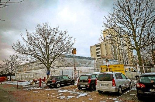 Am Sturmvogelweg in Neugereut entstehen derzeit zwei Systembauten – christliche Flüchtlinge wollen dort am liebsten unter sich sein. Foto: Lichtgut/Max Kovalenko