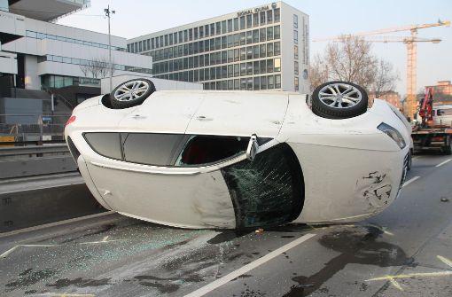 Audi landet auf dem Dach