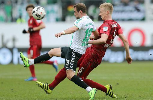 Niederlage in Fürth: Packt der VfB um Timo Baumgartl (rechts) den Aufstieg? Foto: dpa