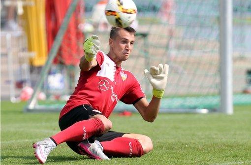 Gegen Hertha BSC erstmals in der VfB-Startelf: Odisseas Vlachodimos. Foto: Bm