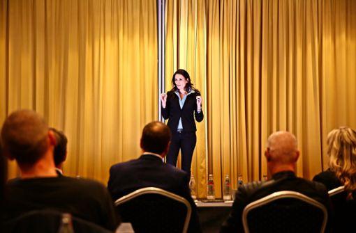 Valentina Antonius bei ihrem Auftritt in München. Foto: privat