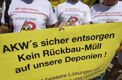Sie sind gegen eine Ablagerung des AKW-Schutts auf Kreisdeponien. Foto: factum/Granville