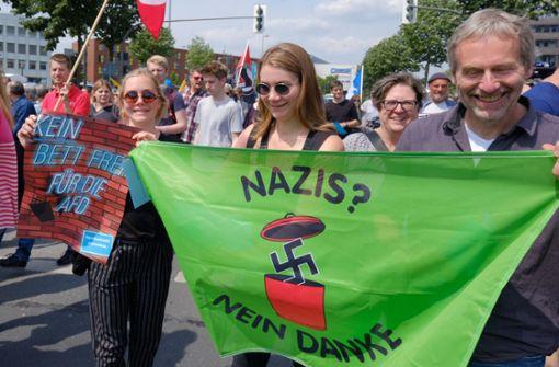Protest gegen AfD-Auftritt