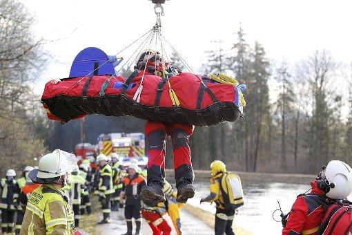 Verletzte wurden teils mit Hubschraubern abtransportiert. Foto: dpa