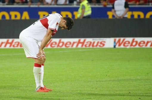 Gomez allein vorm Tor