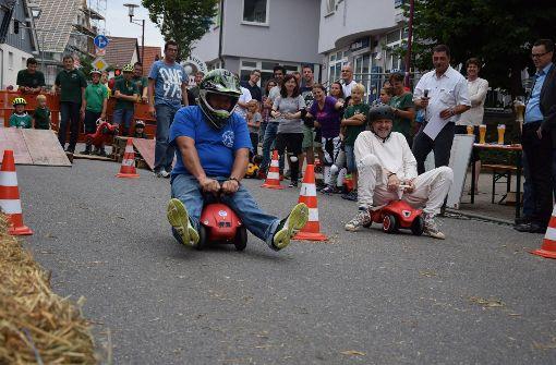 Der Höhepunkt ist ein Bobbycar-Rennen