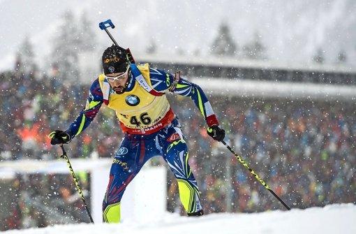 Egal bei welchem Wetter – der Franzose Martin Fourcade ist der derzeit stärkste Biathlet Foto: dpa