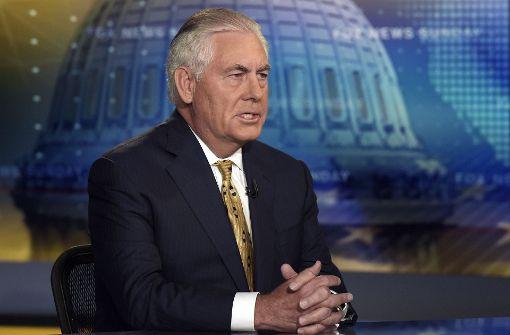 US-Außenminister Tillerson grenzt sich von Trump ab