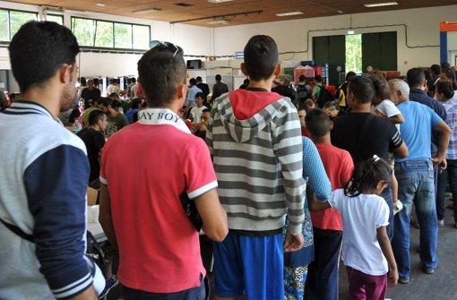 Bei der Erstaufnahmestelle für Flüchtlinge in Ellwangen kam es am Dienstag zu einer Massenschlägerei bei der Essensausgabe (hier ein Archivbild). Foto: dpa