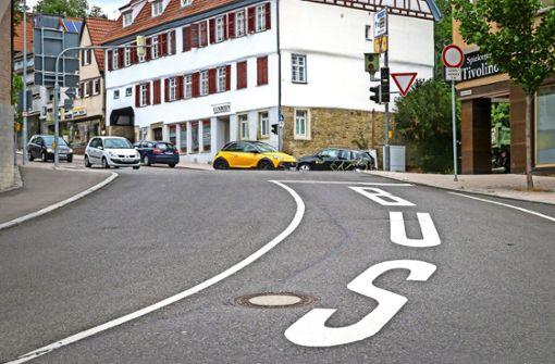 In der Bahnhofstraße  wird munter drauf los  geblitzt