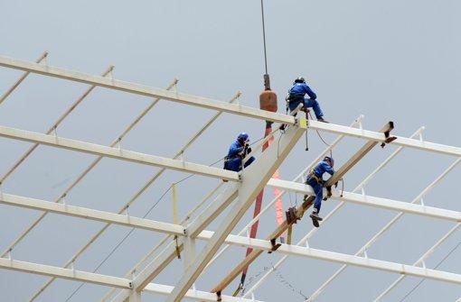 Arbeiten am WM-Stadion stehen still